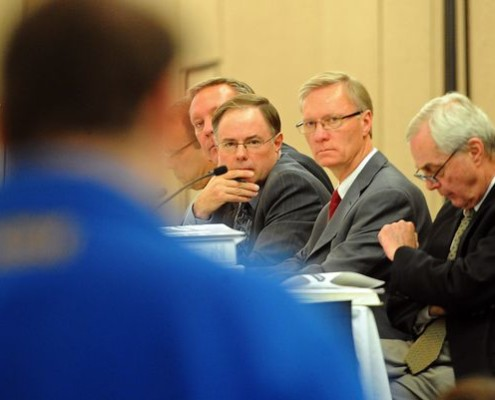 SD Public Utilities Commissioners Listening to Public Comments